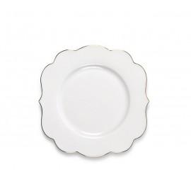 Dezertní talíř PiP studio Royal bílý - 17 cm