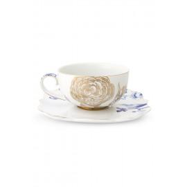 Pip Royal white Cappuccino hrnek s podšálkem
