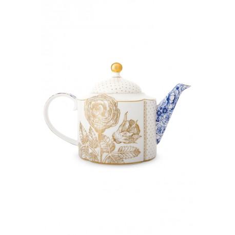Pip studio Royal white čajová konvice 1600 ml, bílá