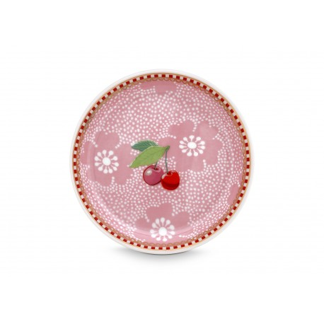 Čajový podtácek Dotted Flower růžový