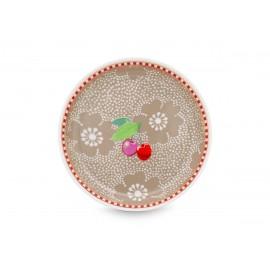 Čajový podtácek Dotted Flower khaki