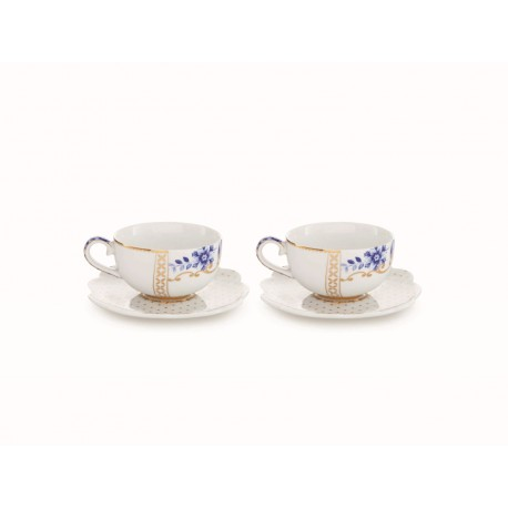 Set/2 Espresso šálků s podšálkem Royal White 125 ml, bílá