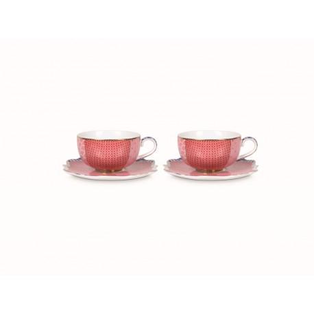 Set/2 Espresso šálků & podšálků Royal růžový