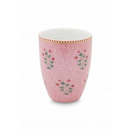 Porcelánový kelímek Good morning, růžový
