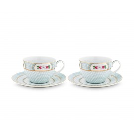Set 2 Cappuccino hrnků Blushing birds, bílé, 280 ml
