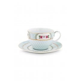 Cappuccino hrnek s podšálkem Blushing birds, bílý, 280 ml