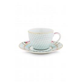 Pip studio Espresso šálek s podšálkem Blushing birds, 120 ml, bílý