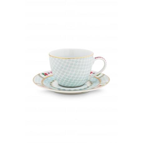 Espresso šálek s podšálkem Blushing birds, bílý, 180 ml