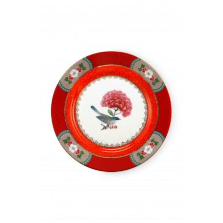 Pip studio talíř Blushing birds 17 cm, červený
