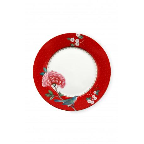 Pip studio talíř Blushing birds 21 cm červený