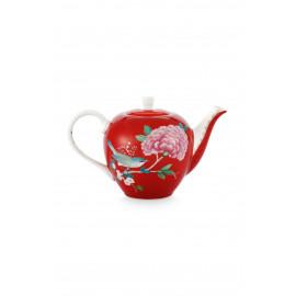 Čajová konvička Blushing birds, červená, 750 ml