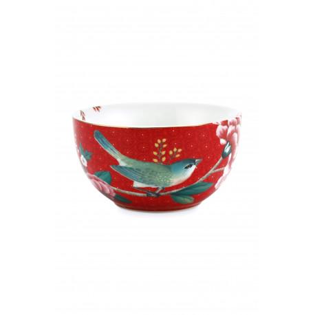 Miska Blushing birds červená, 12 cm