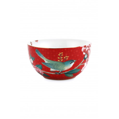 Pip studio miska Blushing birds 12 cm, červená