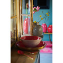 Kulatá kovová váza BB khaki, 25 cm