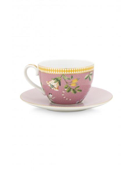 Pip studio Cappuccino hrneček s podtáckem La Majorelle 280 ml, růžový