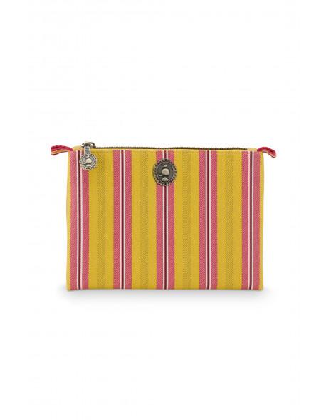 Pip studio Kosmetická taška placatá Jambo Flower, žlutá