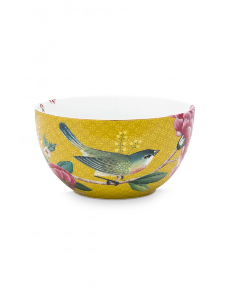 Pip studio miska Blushing birds 12 cm, žlutá