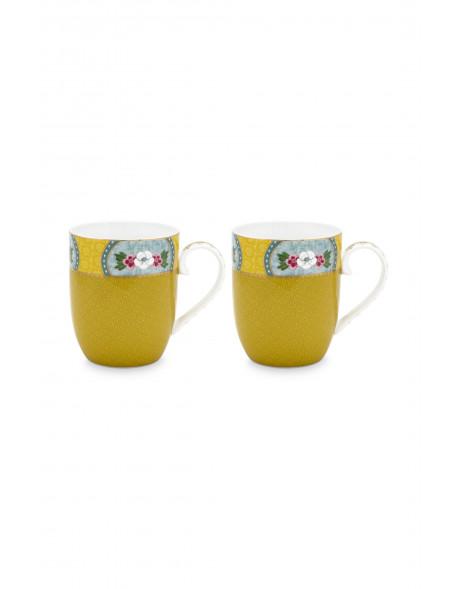 Set 2 hrnečků Blushing žluté, malé