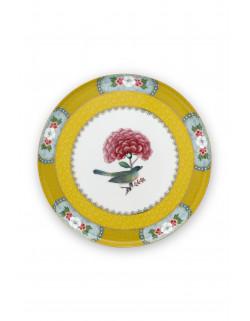 Mini dortový tác Blushing birds, žlutý
