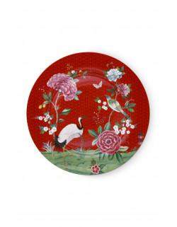 Talíř Blushing birds červený 32 cm
