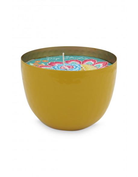 Mistička se svíčkou žlutá, 11 cm