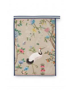 Pip studio čajová utěrka Blushing birds celopotisk khaki