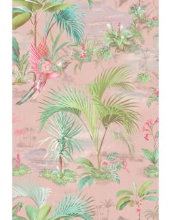 Vinylová tapeta Palm scene růžová, Pip studio