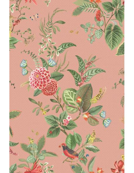 Vliesová tapete Floris růžová, Pip studio