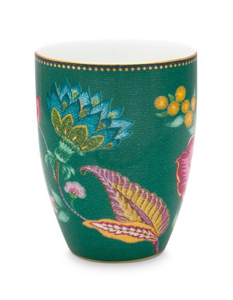 Pip studio Porcelánový kelímek Jambo Flower 300 m, zelený