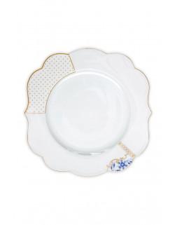 Pip Royal white talíř 23,5 cm, bílý