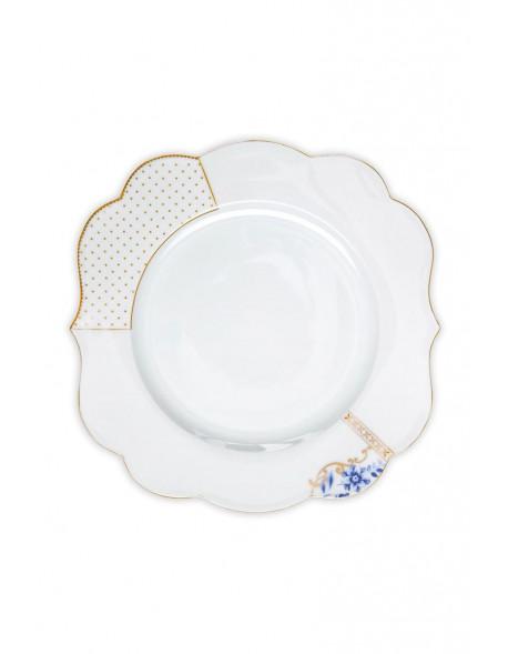 Pip Royal white talíř 28 cm, bílý