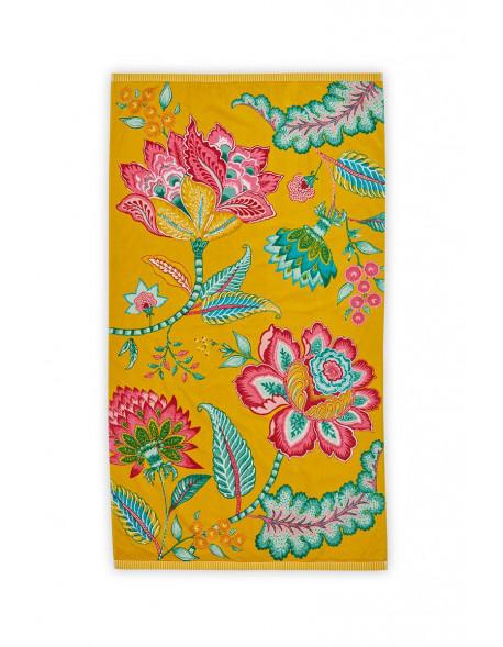 Plážový ručník Jambo žlutý 100x180 cm
