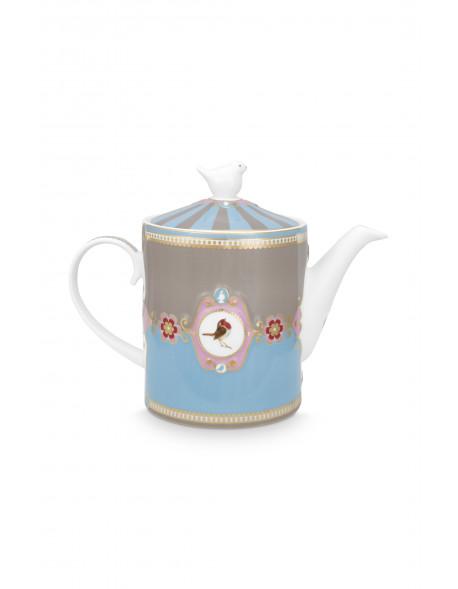 Čajová konvice medailon - modrá