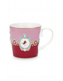 Mug large LB red/pink medallion