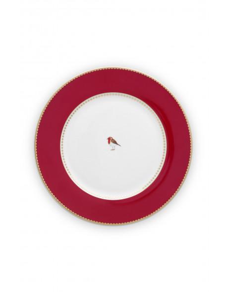 Pip studio talíř Love birds, červený, 26,5 cm