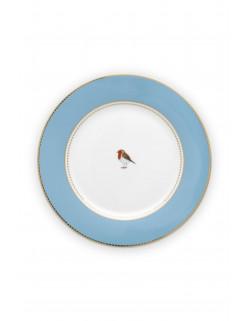 Pip studio talíř Love birds, modrý, 26,5 cm