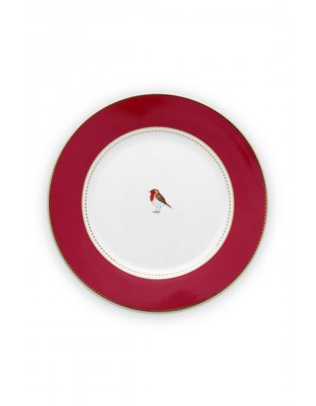 Pip studio talíř Love birds, červený, 17 cm
