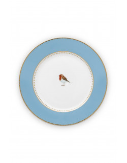 Pip studio talíř Love birds, modrý, 21 cm