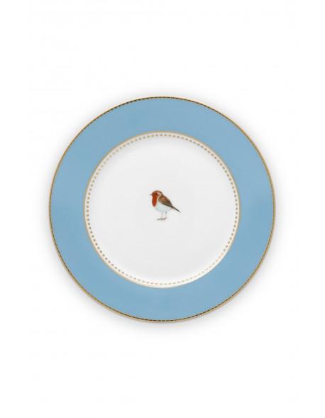 Pip studio talíř Love birds, modrý, 17 cm