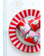 Pip Studio hrnek Love birds, červený s proužky, 250 ml