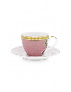 Pip studio Espresso šálek s podšálkem La Majorelle, růžový, 120 ml