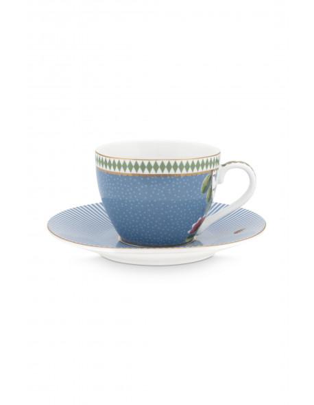 Pip studio Espresso šálek s podšálkem La Majorelle, modrý, 120 ml