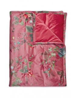 Pip Studio Sametový přehoz Fall in Leaf růžový 220x260 cm
