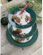 Pip studio 3 patrový dortový podnos Winter Wonderland zelený 17-21-26.5cm