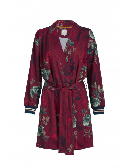 Pip studio Kimono Leafy Stitch červené, XL