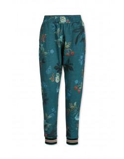 Pip studio Kalhoty dlouhé Leafy stitch modré