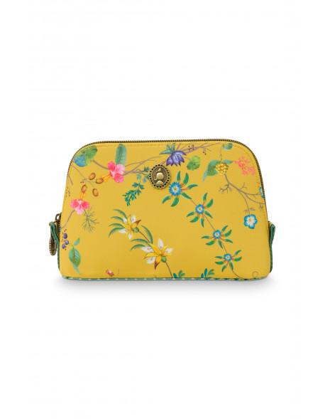 Pip studio Kosmetická taška Triangle Petites Fleurs žlutá S