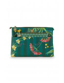 Pip studio DUO kosmetická taška Combi Fleur Grandeur, zelená