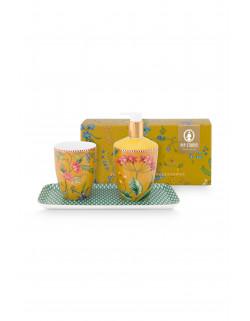 Pip studio Koupelnový set Small Petites Fleurs, žlutý