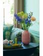 Pip studio oválná kovová váza Blushing birds 30 cm, starorůžová